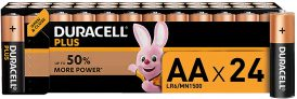 Duracell Plus AA Pilhas alcalinas pack 24 unidades